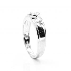 14K WHITE GOLD AND WEDDING BAND