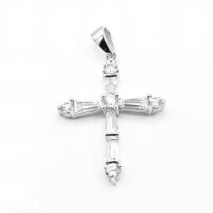 Silver Cross w/CZs