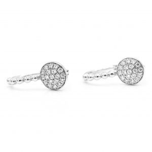 925 Sterling Silver CZ Pave Earrings