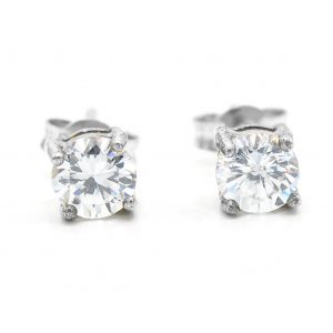 925 Sterling Silver Clear CZ Studs