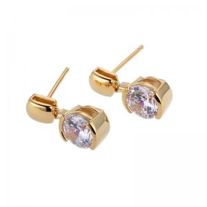 18K Gold Plated Silver CZ Earrings