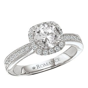 Sterling Silver Halo CZ Ring