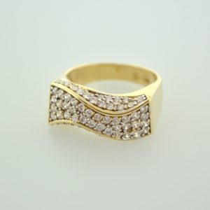 10KY Ladies Cubic Zirconia Ring