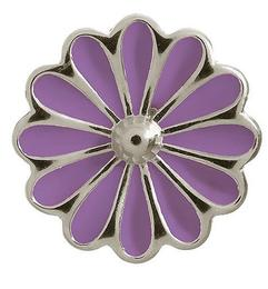 Endless Jewellery Charm Daisy Violet Silver