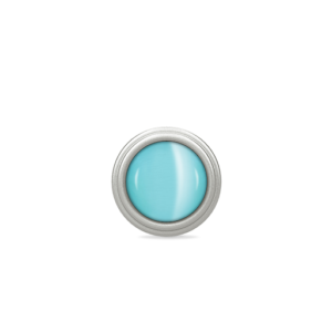 Endless Jewelry Aqua Blue Love Dome Silver