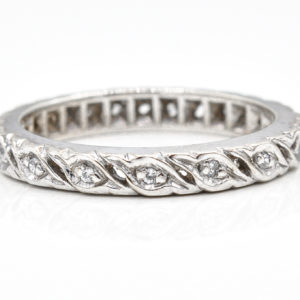 10K White Gold Cubic Zirconia Band