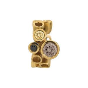Endless Jewelry Multi Gemstone Smokey Gold Plated Charm