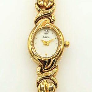 Ladies Bulova Quartz Yellow Tone Watch
