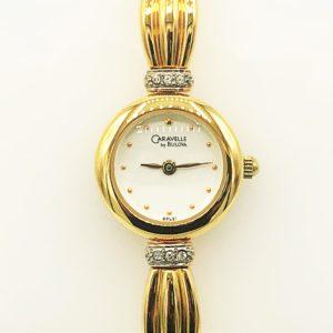 Ladies Caravelle By Bulova Quartz Yellow Tone Watch